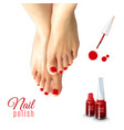 Pedicure Nail Polish vector image