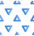 penrose triangle background vector image vector image