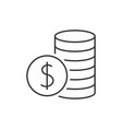 pile with coins icon vector image vector image