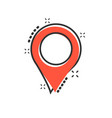 pin map icon in comic style cartoon gps vector image vector image