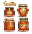 pumpkin jam in jars vector image vector image