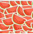 Red water melon seamless background vector image vector image