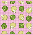 seamless pattern with brussels sprout vector image