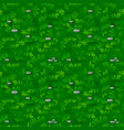seamless textured green grass pattern with stones vector image vector image