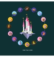 set of fairy tales flat design magic icons vector image