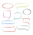 set of grunge speech bubbles vector image