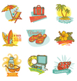Set of Vintage Summer Labels vector image