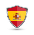 shield with flag of spain isolated vector image vector image