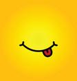 smiley yellow cartoon vector image vector image