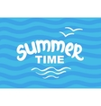 Summer time - hand drawn brush lettering vector image
