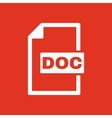 The DOC icon Text file format symbol Flat vector image
