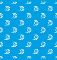 timer pattern seamless blue vector image vector image