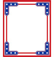 usa flag symbolism patriotic border vector image vector image