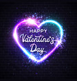valentines day card 3d graphic realistic heart vector image vector image