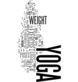 yoga exercise for weight loss does it work text vector image vector image