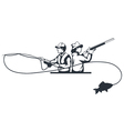 hunter and fisherman vector image