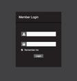 Member login design vector image