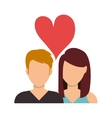 Romantic couple in love vector image