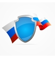 Russia Flag and Shield vector image