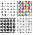 100 housewife icons set variant vector image vector image