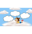 A girl lying and thinking in the sky vector image