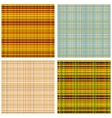 A set of Scottish Patterns vector image vector image