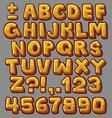 Alphabet yellow vector image