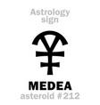 astrology asteroid medea vector image vector image