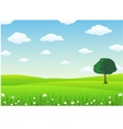 beauty landscape vector image