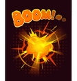 Big cool explosion background vector image vector image