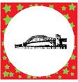 black 8-bit sydney harbor bridge vector image vector image