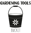 black and white bucket silhouette vector image