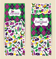 Bright carnival banners and Welcome to Carnival vector image vector image