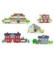 buildings home house cottage villa bungalow vector image vector image