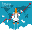 Business growth up for business start up vector image vector image