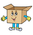 cartoon cardboard box vector image