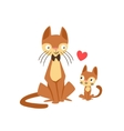 Cat Dad With Bow Tie Animal Parent And Its Baby vector image vector image