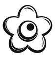 choco flower icon simple style vector image