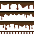 Chocolate seamless drips background vector image vector image