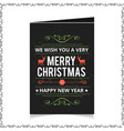 chrismtas card with dark background and pattern vector image
