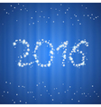 Christmas and New Year 2016 background vector image