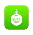 christmas ball icon green vector image vector image