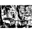 city landscape made by ink on paper vector image vector image