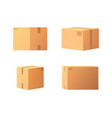 closed parcel icons from side back and front view vector image vector image