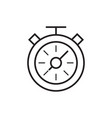compass line icon vector image
