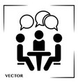conference icon people sitting at the vector image vector image