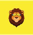 cute lion mascot logo vector image vector image