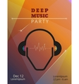 Deep music party poster vector image