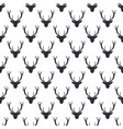 deer head pattern wild animal symbols seamless vector image vector image