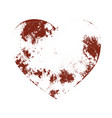 distress grunge heart vector image